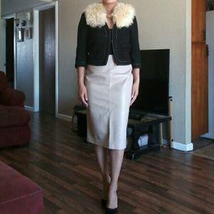 Zara vegan leather skirt